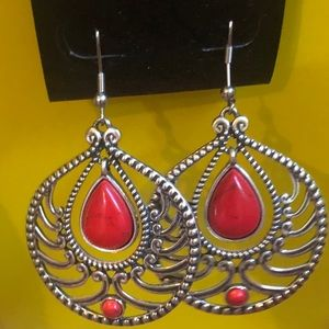 Montana Silversmiths Earrings Rock 47 Red Jasper